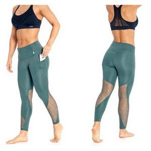 Marika Pants - Marika Tummy Control Green Sequin Leggings Medium